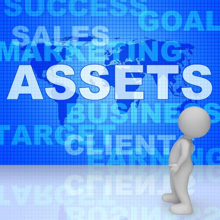 Assets Words Representing Capital Valuables And Wealth 3d Rendering