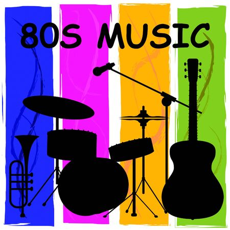Eighties Music Showing Sound Track And Melody