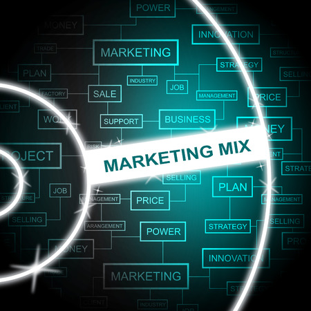 Marketing Mix Indicating Email Lists And Media