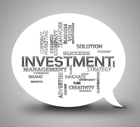 Investment Bubble Indicating Stock Dialog And Speech