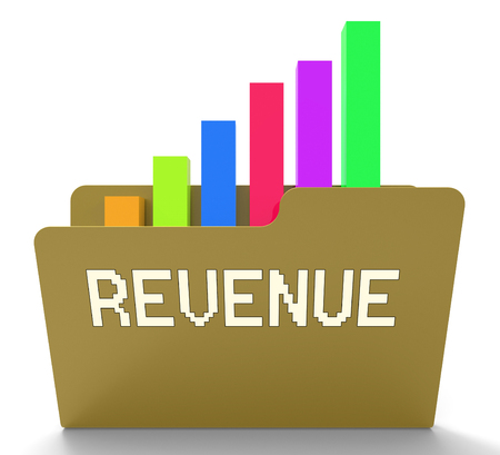 Revenue File Meaning Files Earning And Charts 3d Rendering