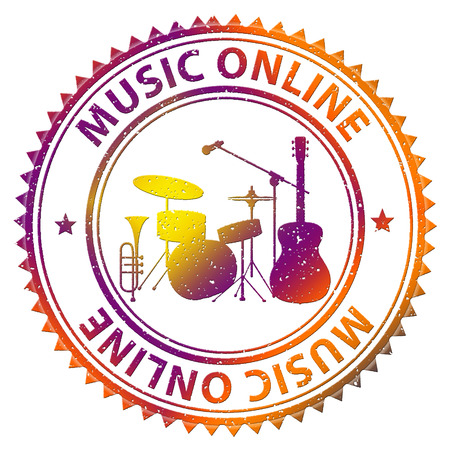 Music Online Representing Sound Track And Websites