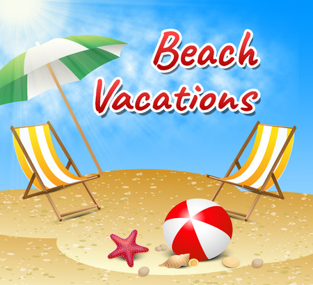 Beach Vacations Showing Seafront Ocean And Sun