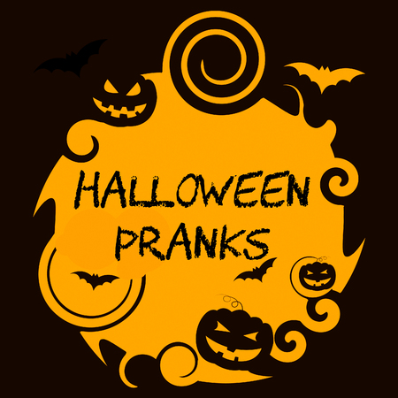 Halloween Pranks Showing Trick Or Treat And Joker Autumn