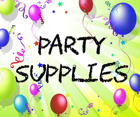 Party Supplies Representing Celebration Shopping And Products