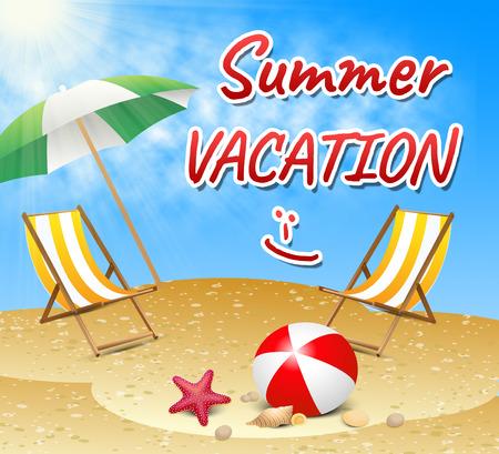 Summer Vacation Showing Vacation Season Beach Getaway