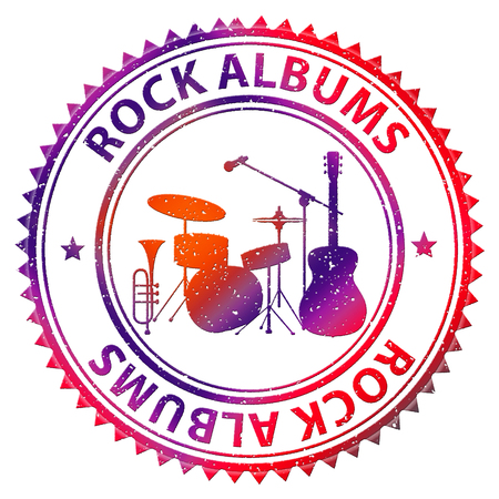 Rock Albums Showing CD Collection And Music