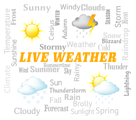 Live Weather Representing Meteorological Conditions And Outlook Now