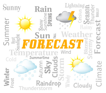 Weather Forecast Representing Meteorological Conditions And Climate