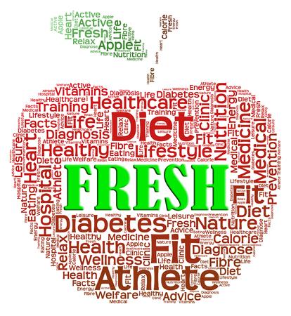 Fresh Apple Showing Fruit Unprocessed And Freshest