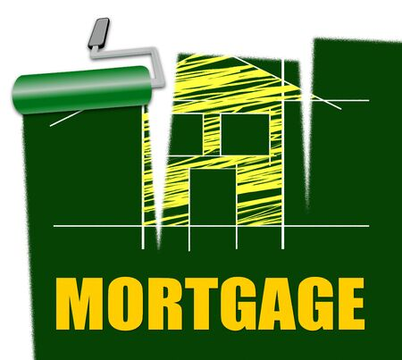 House Mortgage Representing Housing Loan And Credit