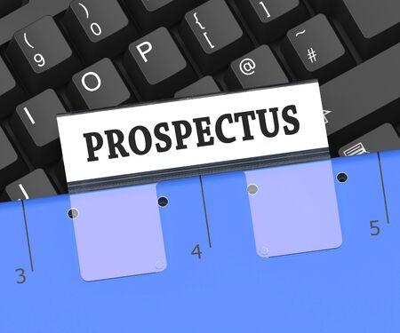 Prospectus File Or Folder Of Brochures 3d Rendering
