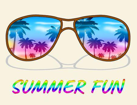 Summer Fun Representing Jubilant Cheerful And Happy