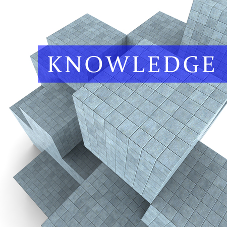 Knowledge Words Showing Know How 3d Rendering