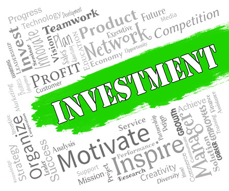 Investment Words Showing Portfolios Investors And Opportunity
