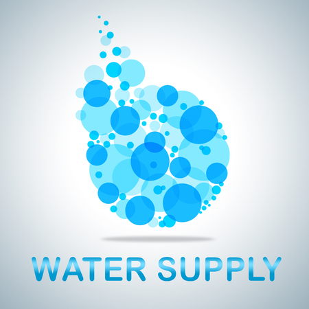 Water Supply Icon Representing Getting Clean H2o