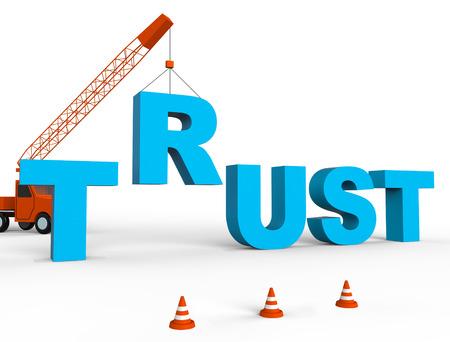 Build Trust Indicating Believe In People 3d Rendering