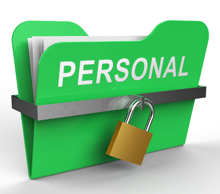 Personal File With Padlock Shows Private Paperwork 3d Rendering