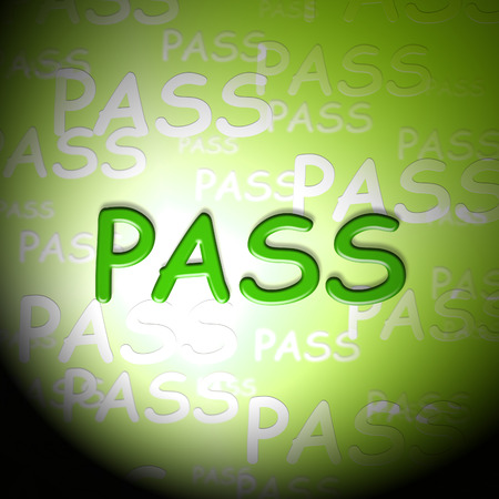 Pass Words Indicating Approved Passing And Verified