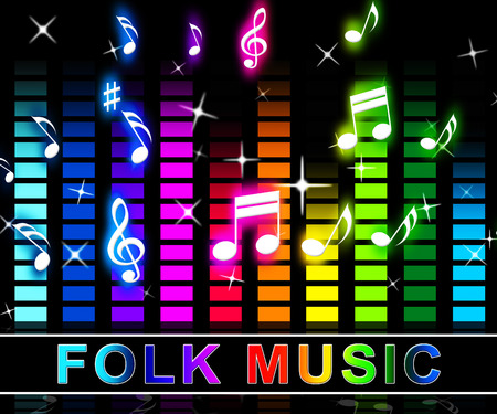 Folk Music Equalizer Notes Means Country Ballards And Soundtrack