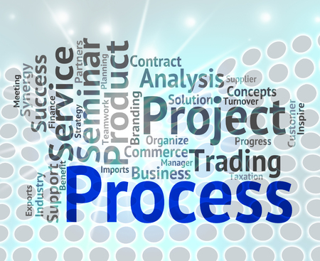 Process Word Wordcloud Showing Processes Task And Method