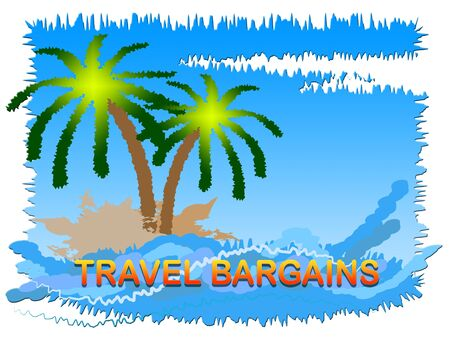 Travel Bargains Beach And Sea Indicates Discount Tours Or Trips