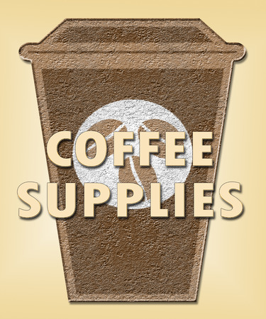 Coffee Supplies Cup Shows Product Supply Or Supplier