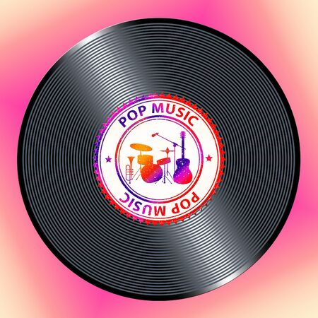Pop Music Record Representing Sound Track And Acoustic