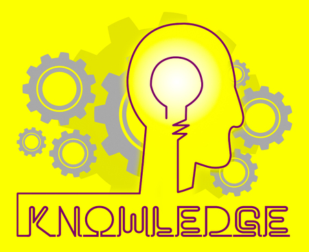 Knowledge Cogs Shows Know How And Wisdom