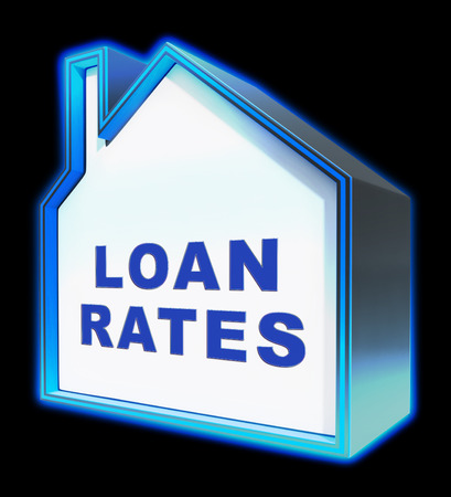 Home Loan House Rates Represents Housing Credit 3d Rendering