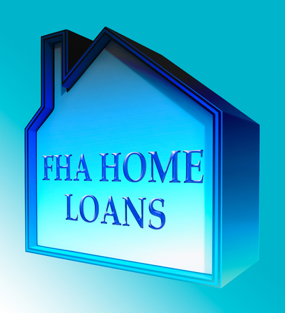 FHA Home Loans House Shows Federal Housing Administration 3d Rendering