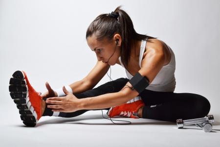 Photo for beautiful fitness woman, studio shot  - Royalty Free Image