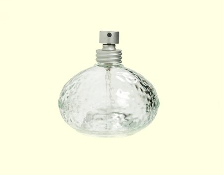 Photo of an empty isolated bottle of perfume
