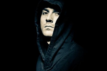 Portrait of a male model in the dark