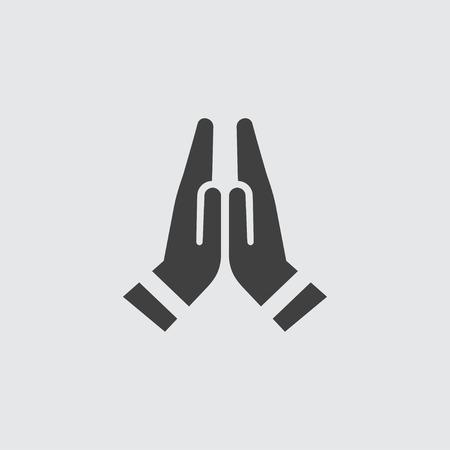 Ilustración de Prayer icon illustration isolated vector sign symbol - Imagen libre de derechos