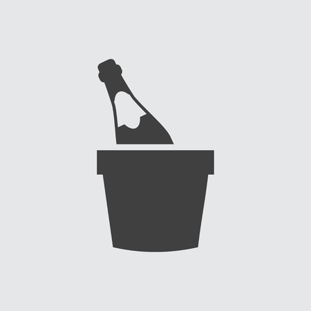 Champagne icon illustration isolated vector sign symbol