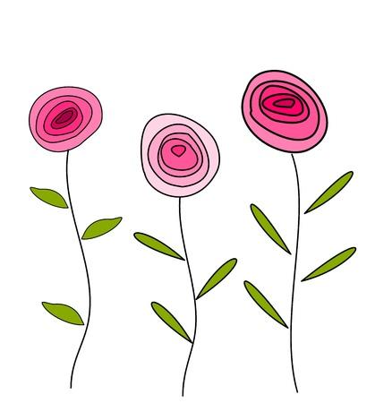 Illustration pour Roses in pink color card - image libre de droit