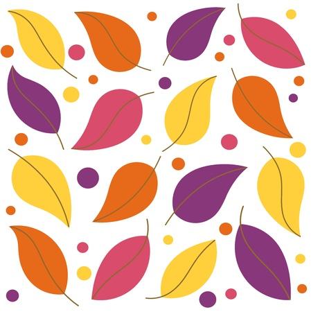 Colorful leaf background. Vector illustration