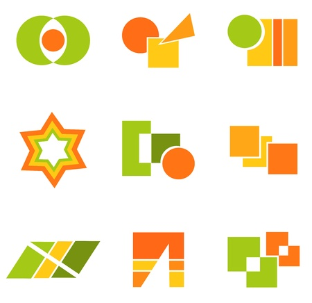 Geometry icons and symbols.