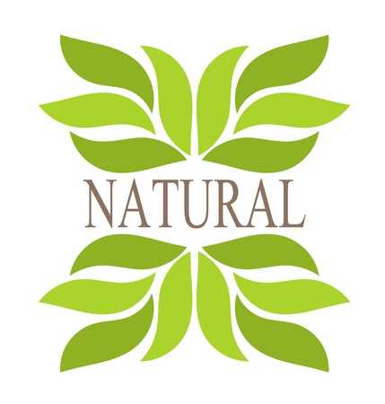 Illustration for Natural green leaves border. illustration - Royalty Free Image