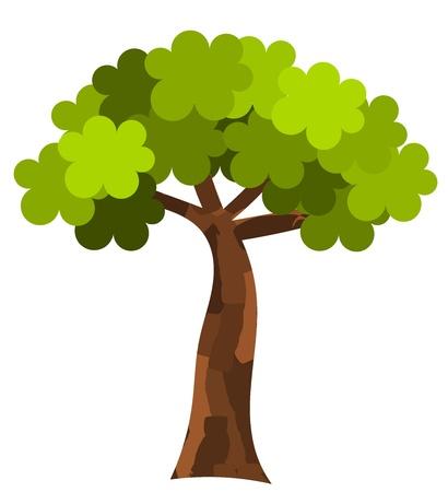 Ilustración de Plane tree. Vector illustration - Imagen libre de derechos