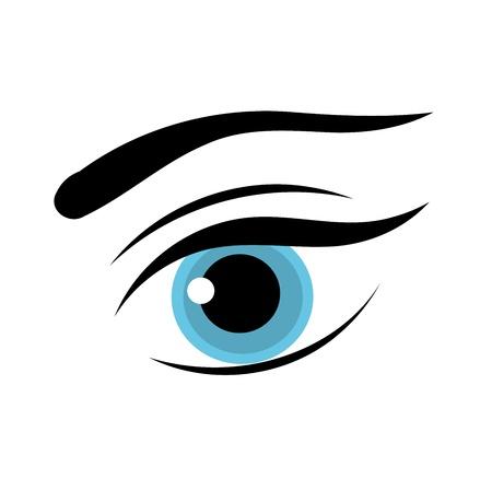 Beautiful blue woman eye.