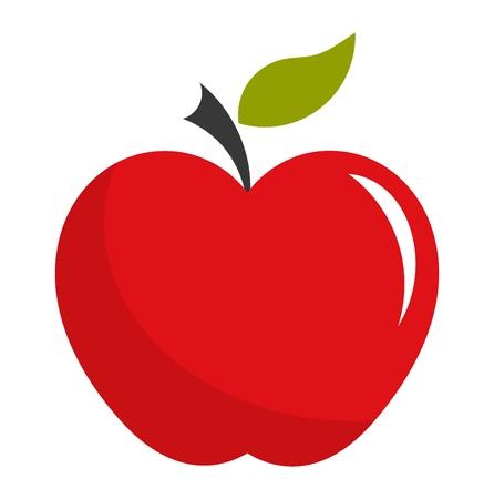 Red apple. Vector illustration