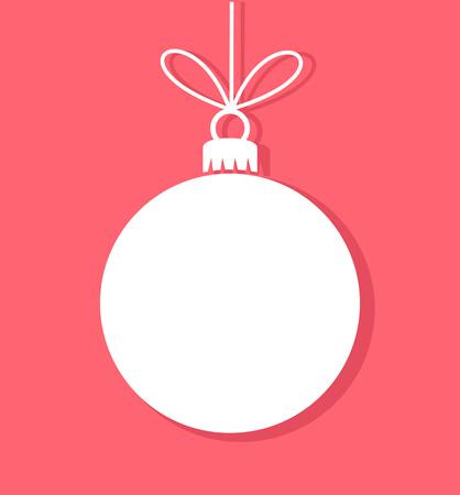 Foto für Christmas bauble white tag. Vector illustration - Lizenzfreies Bild