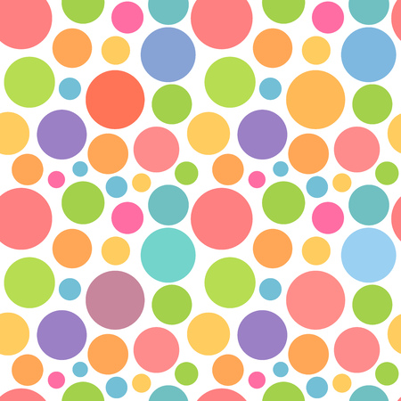 Colorful dots pattern. Vector illustration