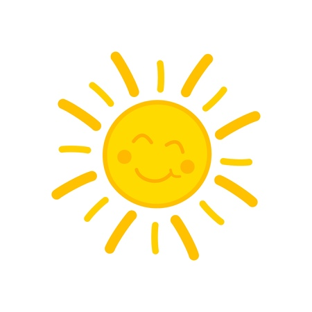 Illustration for Smiling sun. - Royalty Free Image