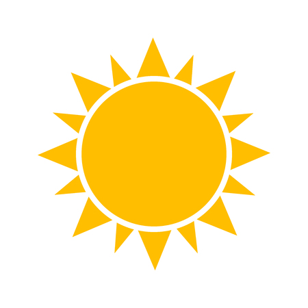Illustration for Sun icon. - Royalty Free Image