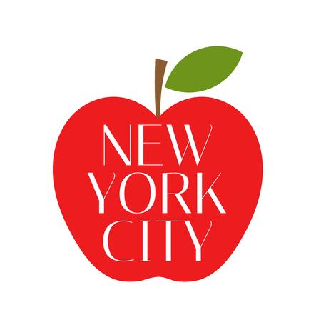 Illustration pour Red Big apple New York City. - image libre de droit