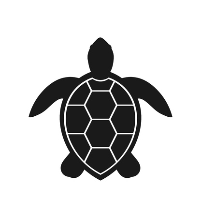 Photo pour Sea turtle icon. Vector illustration - image libre de droit