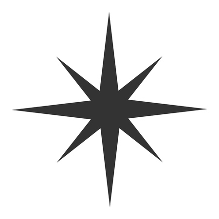 Illustration pour Black star icon. Vector illustrtation - image libre de droit